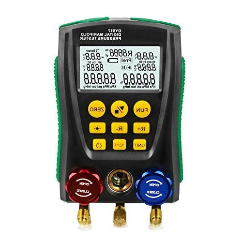 refrigeration digital manifold hvac system gauge high
