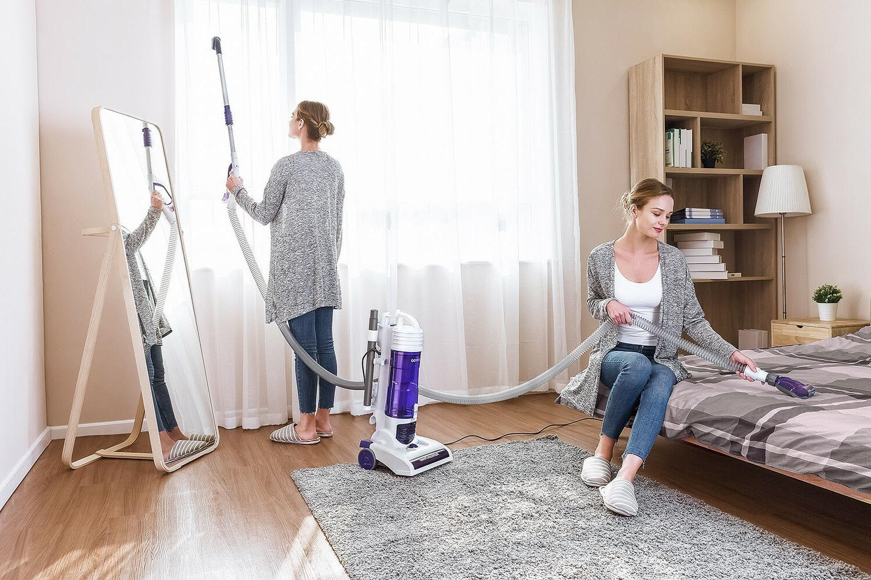 PUPPYOO Bagless Vacuum Lightweight Carpet