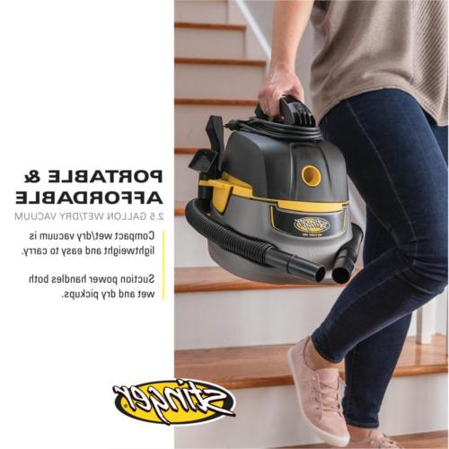 Small Portable Wet/Dry Car Vacuum 2.5-Gallon