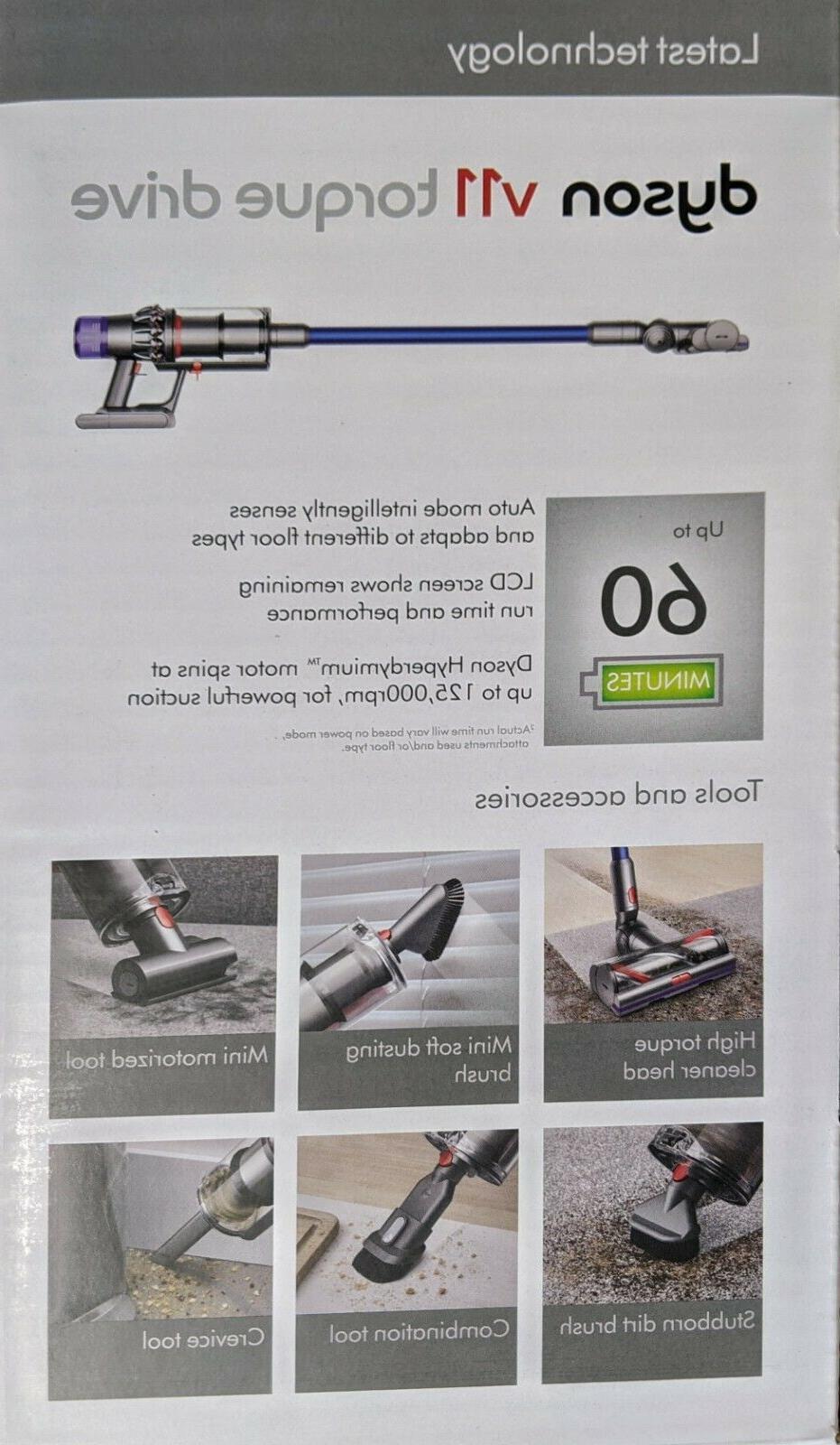 Dyson V11 Torque Cordless Vacuum   New Click-in