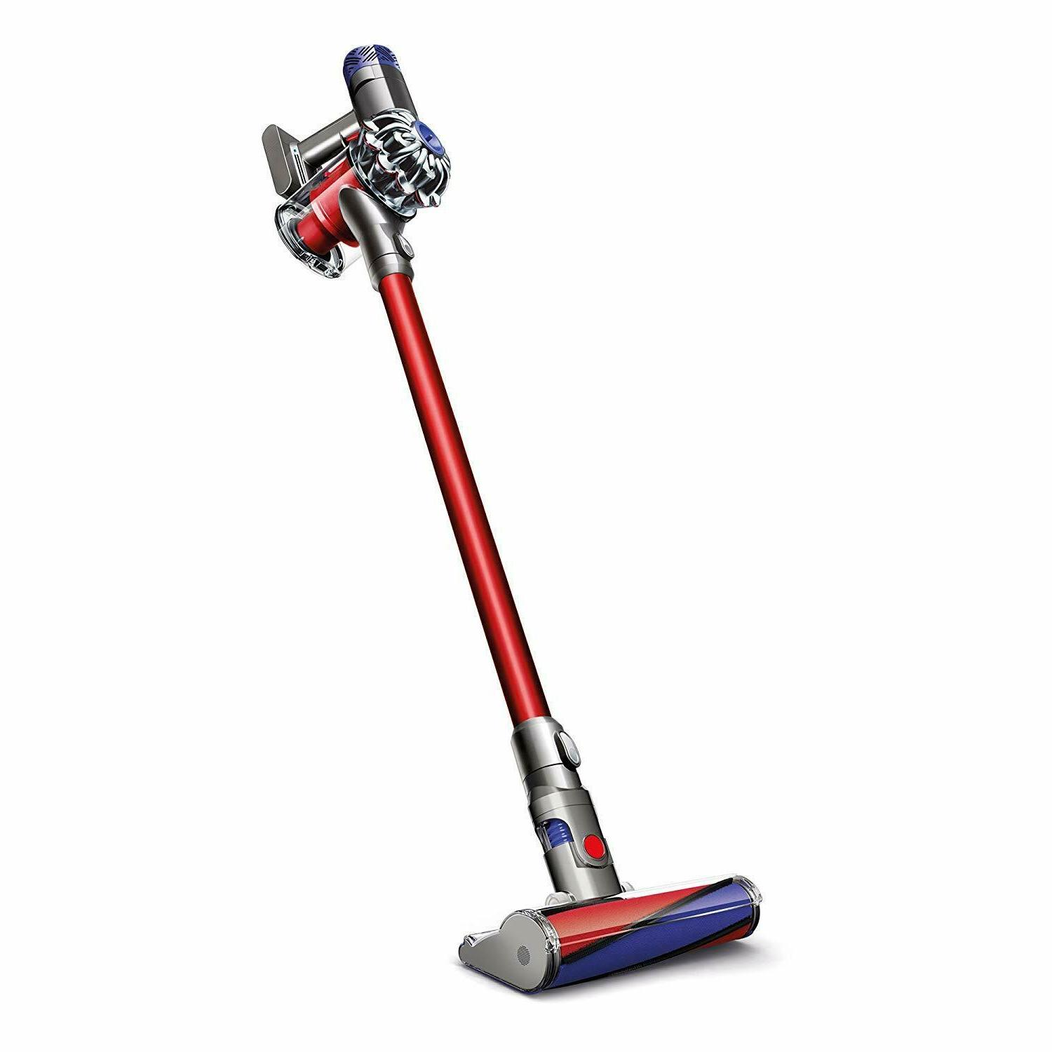 v6 absolute hepa cordless rechargeable vacuum red