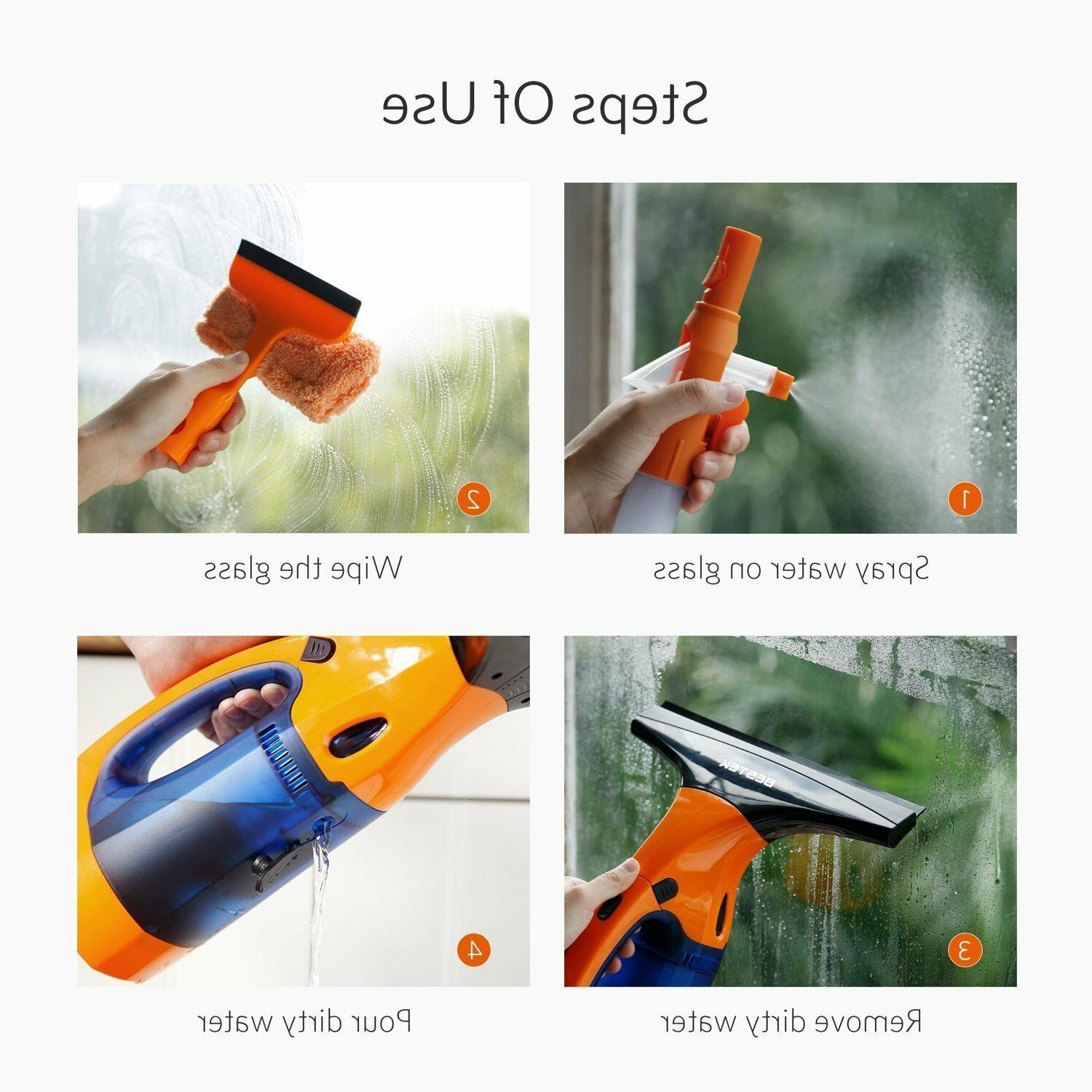Vacuum Cleaner Squeegee Wet Use and Dry Battery Lithium Lead