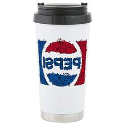 CafePress Pepsi Logo Doodle Stainless Steel Travel Mug, Insu
