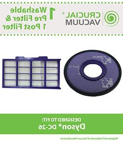 Think Crucial Replacement for Dyson DC26 Pre & Post-Motor HE