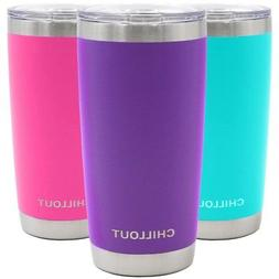 20 oz Stainless Steel Tumbler with Splash Proof Sliding Lid