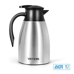 BESTEK 51 Oz Thermal Carafe, Stainless Steel Double Walled V