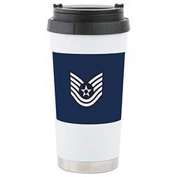 CafePress USAF: Tsgt E-6 (B Stainless Steel Travel Mug, Insu