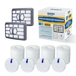 VEVA Premium Vacuum Filter Set with 2 HEPA, 4 Foam, 4 Felt f