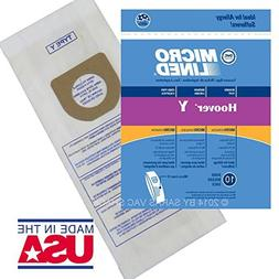 Hoover Vacuum Bags Type Y for Windtunnel Upright Microlined